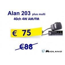 Midland Alan 203 plus multi 40ch 4W AM/FM