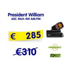 President William ASC 40ch 4W AM/FM