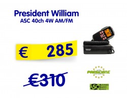 President William ASC 40ch 4W AM/FM