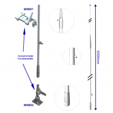 HF60002 6m two-part HF fiberglass antenna