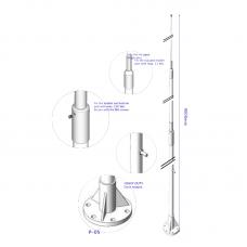HF90003 9m three-part HF fiberglass antenna