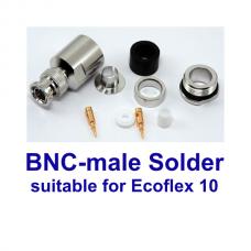 BNC male solder Ecoflex 10