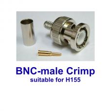 BNC male crimp H155