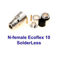 N-female solderless Ecoflex 10