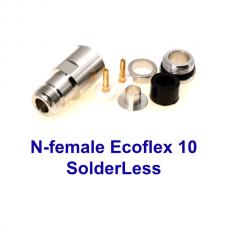 N-female solderless Ecoflex 10