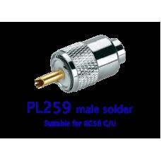 PL259 male solder RG58 C/U