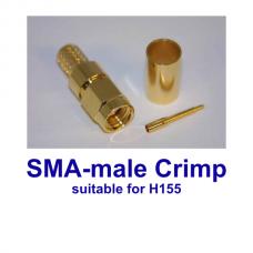 SMA male crimp H155